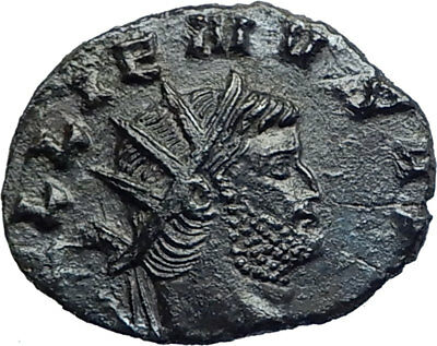 GALLIENUS son of Valerian I 260AD Authentic Ancient Roman Coin Uberitas i74244