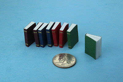 1:12 Dollhouse Miniature Set of 8 Opening Books with Pages Inside #D2318-50
