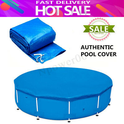 Round Swimming Pool Cover Roller Fit 10/12 feet Diameter Family Garden Pool PE