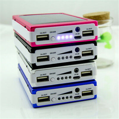 300000mAh 20 LED Solar Power Bank Portable Dual USB Battery Charger For Phone