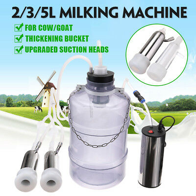2/3/5L Electric Milking Machine Cow Goat Milker Dual Upgraded Head Thickening