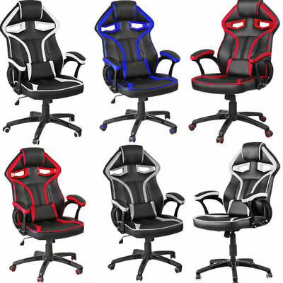 Panana Luxury Car Style Chair Faux Leather Racing Gaming Office Chair Adjustable