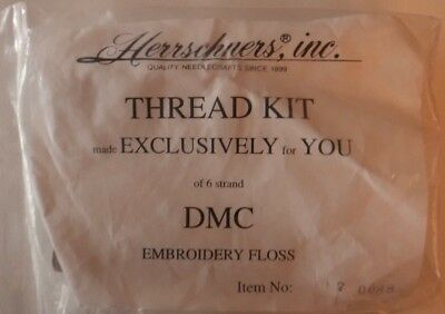 Herrschners Thread Kit 6 Strand DMC Embroidery Floss 12 Colors