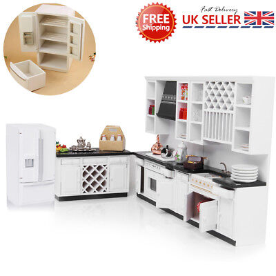 1/12 Doll House Kitchen Furniture Miniature Modern Fridge Refrigerator Decor
