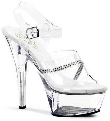 c32d57c56f73 Sexy Rhinestone Platform Stiletto Sandals Stripper High Heels Shoes Adult  Women