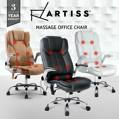 Artiss 8 Point Electric Massage Office Chairs Executive Computer Desk Armrests