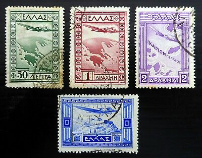 GREECE 1938 Airmails SG468/71 Fine/Used SEE BELOW NL694