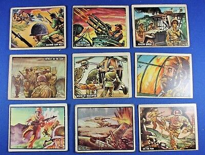 1950 Topps Freedom's War - Battleground Korea - 9 Cards - F/G