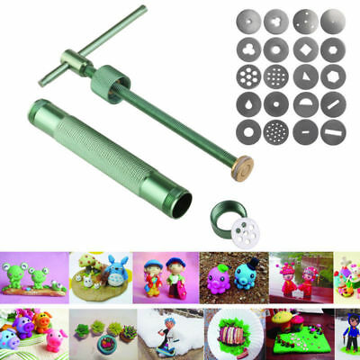 PIXNOR 20 Discs Cookie Craft Pastry Gun Fimo Clay Extruder Cake Slime Putty Toy