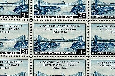 1948 - U.S. - CANADA - #961 Full Mint -MNH- Sheet of 50 Postage Stamps