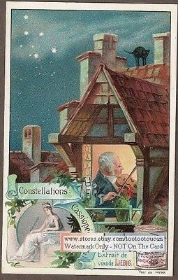 Cassiopea  Astronomy Stars Solar System c1900 Trade Ad Card