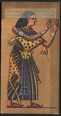 Ancient Egyptian Priests Religion Pharaoh 1920s Ad Trade Card