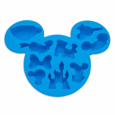 Disney Parks Mickey Mouse & Friends Blue Silicone Ice Cube Tray - New