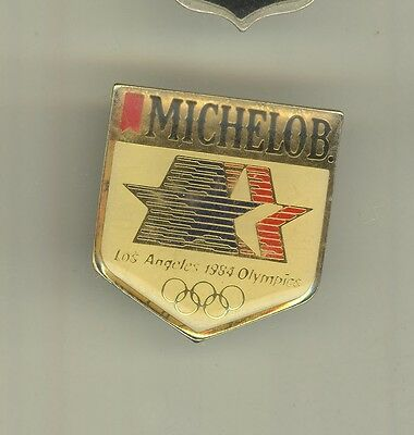 1984 LOS ANGELES SUMMER OLYMPICS Lapel Pin MICHELOB Olympic BEER Sponsor