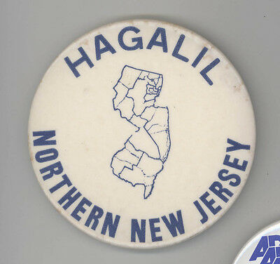 1960s USY United Synagogue Youth JEWISH Pin BUTTON Judaism HAGALIL New Jersey NJ