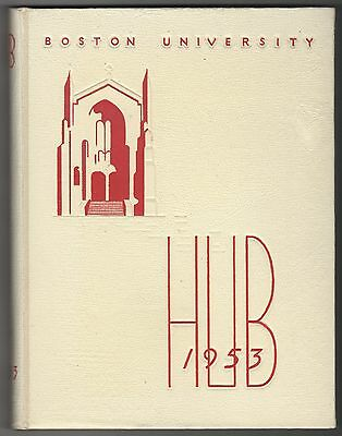 1953 BOSTON UNIVERSITY College Yearbook OLYMPIA DUKAKIS Massachusetts BU Terrier