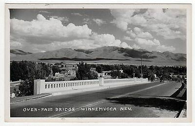 WINNEMUCCA NEVADA NV RPPC Real Photo Postcard OVERPASS BRIDGE Humboldt County