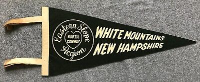 NORTH CONWAY Eastern Slope Region NEW HAMPSHIRE White Mountains VINTAGE PENNANT