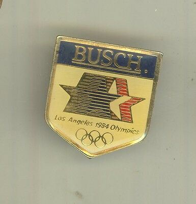 1984 LOS ANGELES SUMMER OLYMPICS Lapel Pin BUSCH Olympic BEER Sponsor