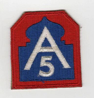 WWII United States Fifth Army NORTH Patch ORIGINAL World War MILITARY Antique