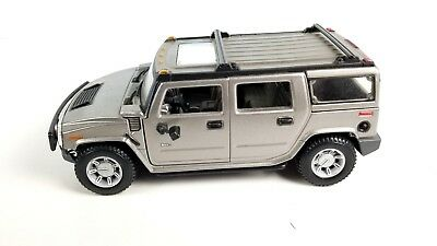 Maisto Hummer H2 Gray 1:27 Scale Diecast Collectible Model Vehicle Toys Car
