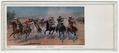 VINTAGE FREDERICK REMINGTON Blotter A DASH FOR TIMBER Painter ARTIST Cowboys