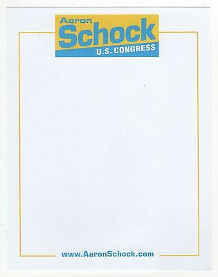 AARON SCHOCK Congress US HOUSE Political CAMPAIGN Stationery ILLINOIS Scandal