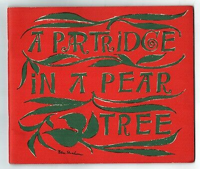 1967 A PARTRIDGE IN A PEAR TREE Ben Shahn ILLUSTRATED MoMA CHRISTMAS Xmas NYC
