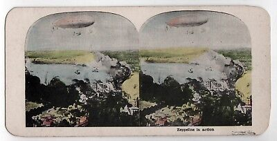 ZEPPELIN Zeppelins 1900s STEREOVIEW Graf AIRSHIP Aviation BLIMP Military GERMANY