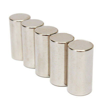 5Pcs 10x20mm N50 Strong Round Cylinder Blocks Rare Earth Neodymium Magnets Sanw