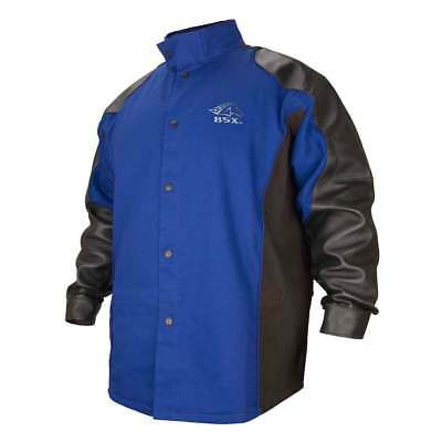 Black Stallion BXRB9C/PS BSX FR Cotton/Pigskin Welding Jacket, Blue/Black, 3X-LG