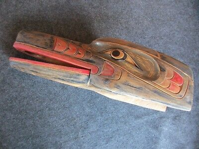 Northwest Coast Ceremonial Mask, Huge Articulated Wooden Raven Mask,   Wy-02291