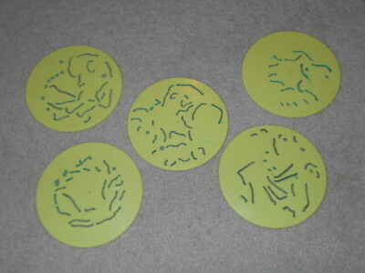 Vintage 1970 Kenner Rotadraw Discs Rotodraw Lot of 5 - FREE SHIPPING