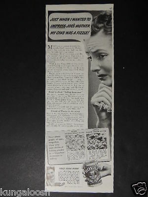 1938 Just...impress Joe's Mother My Cake Was A Fizzle! Royal Baking Powder Ad