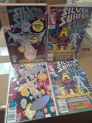 Silver Surfer Comic Books Lot of 6 Signed Vintage Collectable Gold Marvel