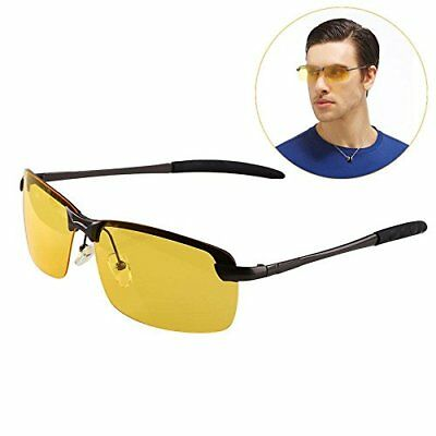 Unisex Night Driving Glasses Vision Anti Glare Drivers Polarized UV400 Fit Over