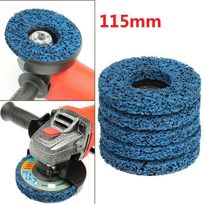 "5x 115mm 4.5"" Poly Strip Wheel Discs Paint Rust Remover Abrasive Angle Grinder"