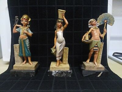 "Excellent Condition Egyptian ""Simonelli"" Statues No. 121, 122 and 124"