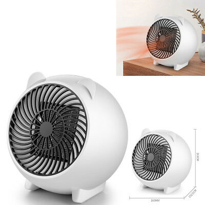 Quiet Electric Portable Fan Heater Hot Thermostat Fit Home Baby Bedroom Desktop