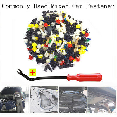 500Pcs Auto Bumper Fender Car Fastener Rivet Door Panel Trim Plastic Clip UK@@