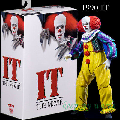New Horror Movie IT 1990 NECA PVC action figure pennywise Clown Gift Toy model