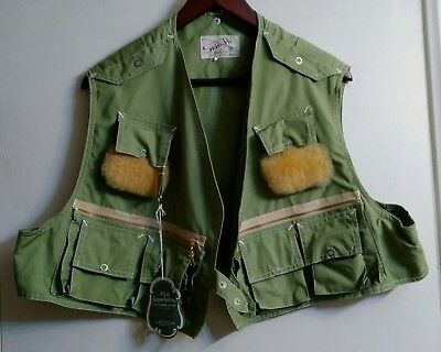 Fly Fishing Vest Vintage -by Spin Fli- Green Mens Large