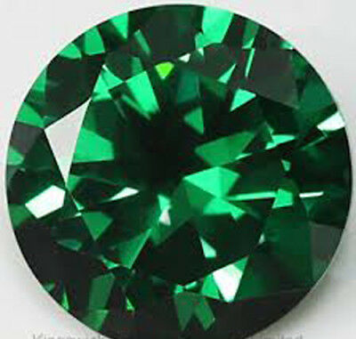 6 mm Transparent Round Shape Natural Deep Green Zirconia from Sri Lanka RU****