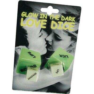 Glow In The Dark Love Dice Naughty Sexy Adult Fun Novelty Gift  Kama  Sutra
