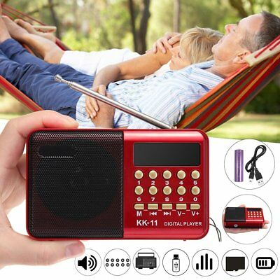 Portable Mini USB Stereo MP3 MP4 Player TF Card Music Speaker Radio Player UK