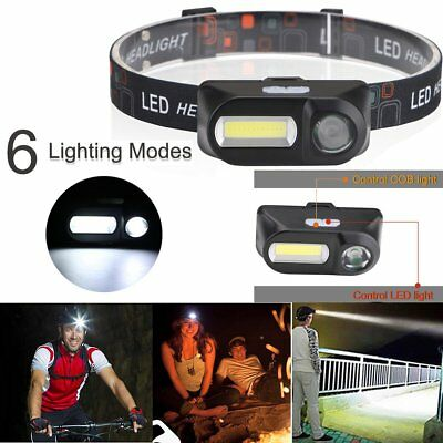 very Bright Waterproof Head Torch/Headlight LED USB Rechargeable Headlamp Fish
