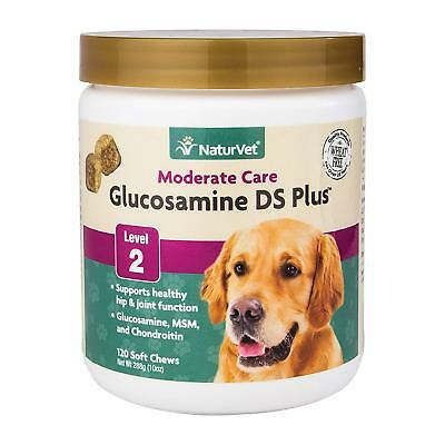 Naturvet Glucosamine Ds Plus Level 2 Moderate Joint Care For Dogs And Cats, Soft