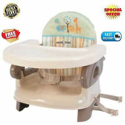 New Compact Summer Infant Deluxe Comfort Booster Seat Folding High Chair Toddler