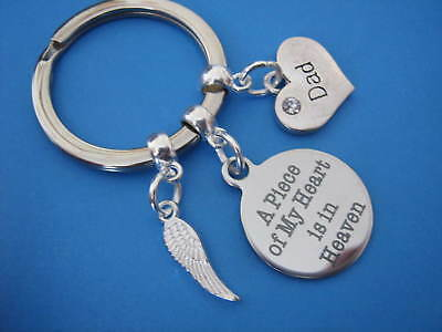Dad Bereavement Keyring In Memory of Dad Keychain Loss of a Father Sympathy Gift