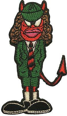 """AC/DC AUFBÜGLER / EMBROIDERY PATCH # 33 """"ANGUS YOUNG"""" - 9x5cm"""